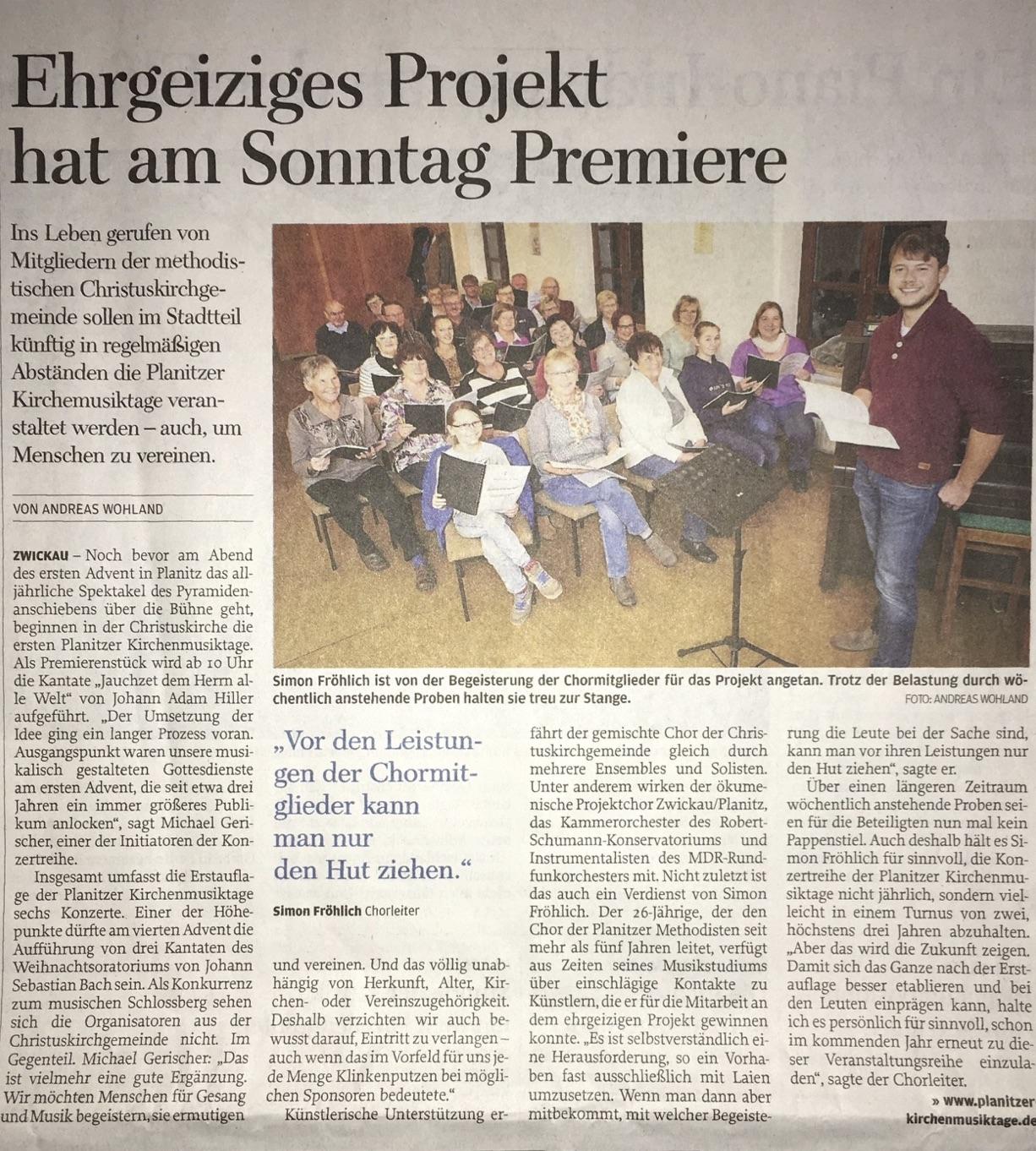 Freie Presse 24.11.16