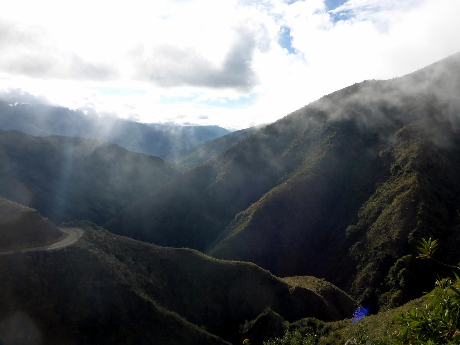Vor dem Abtauchen in den Nebelwald