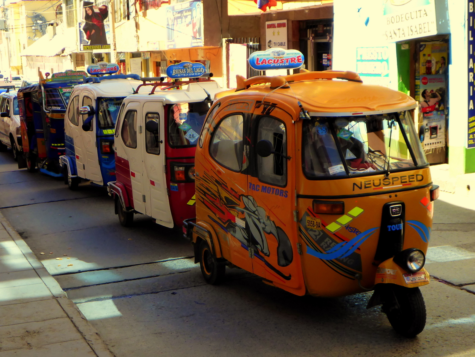 Mototaxis in Puno