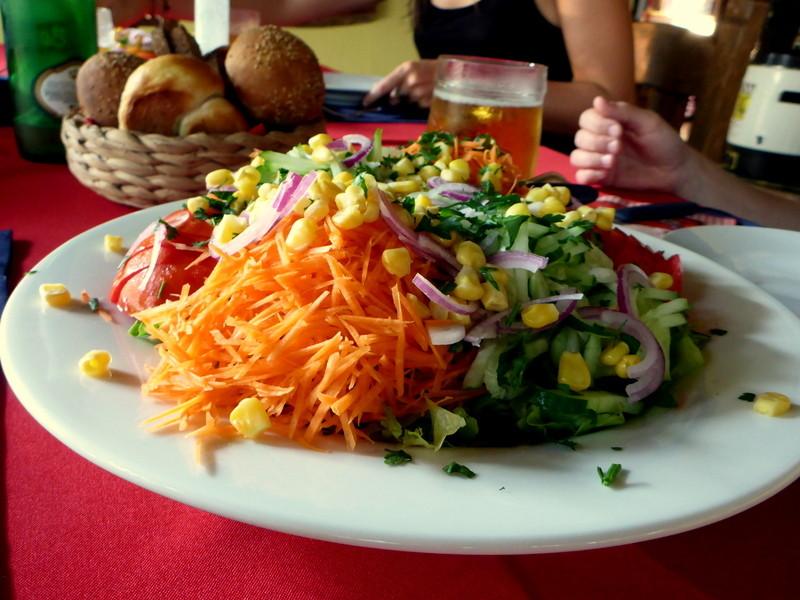 ...heute gibts Salat...