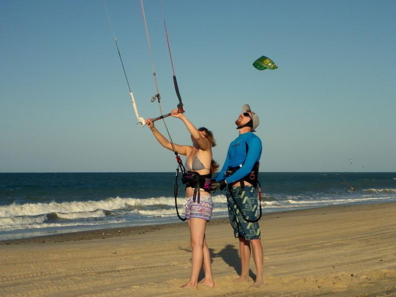 erste Kitestunde