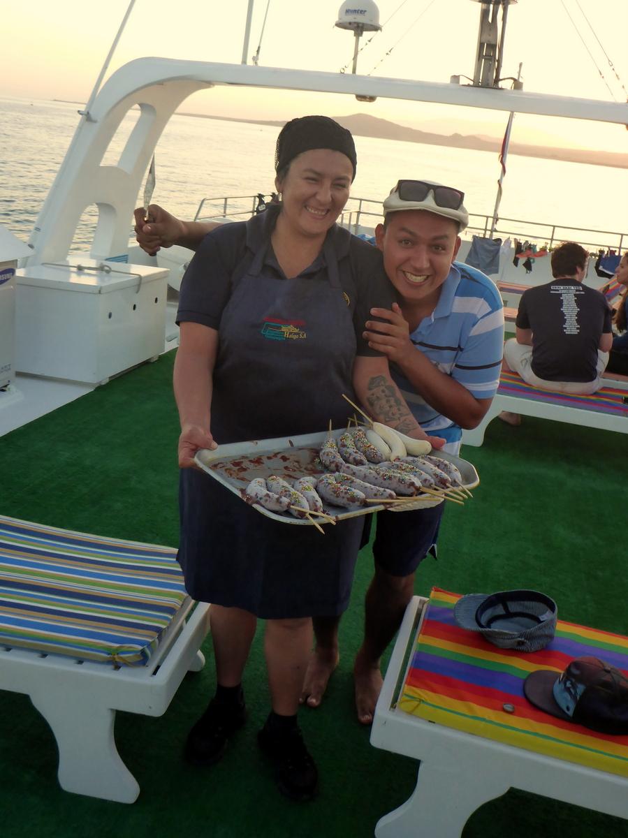 Schoggi-Banane serviert von Wilma und Omar