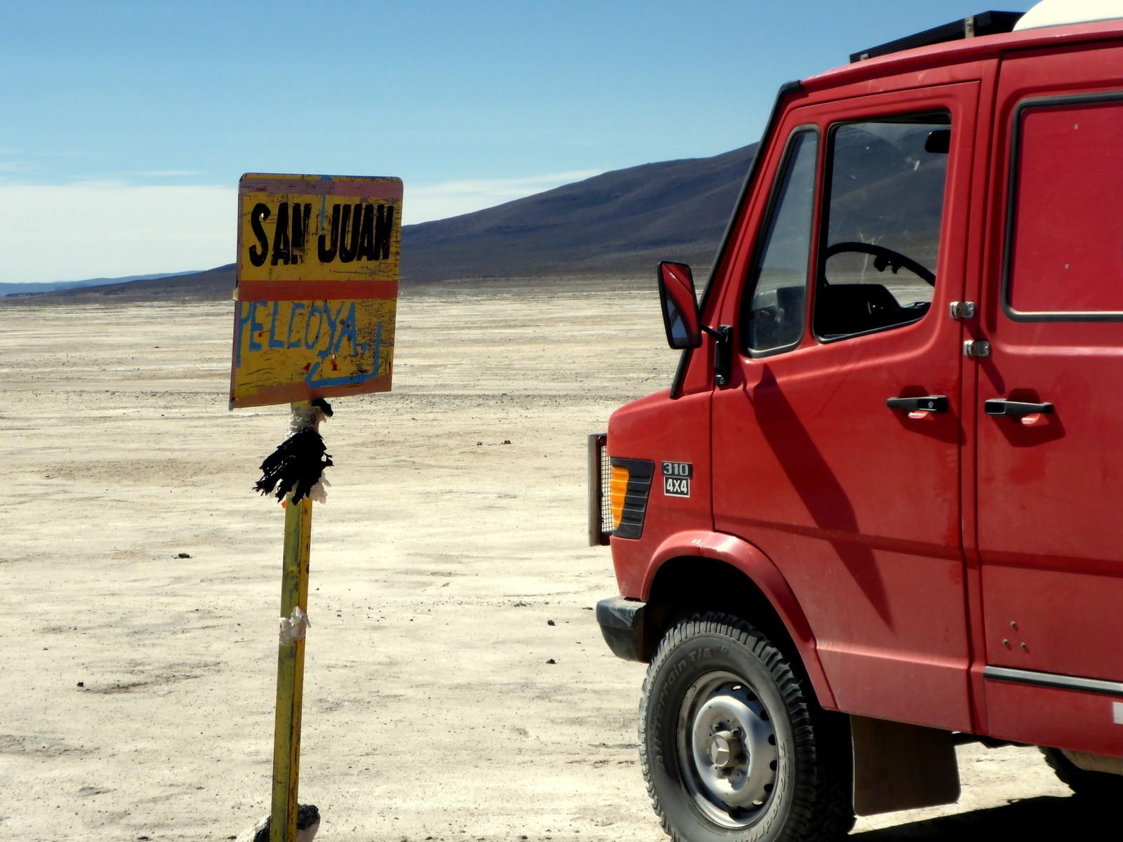 Zum ersten Mal auf bolivianischem Boden