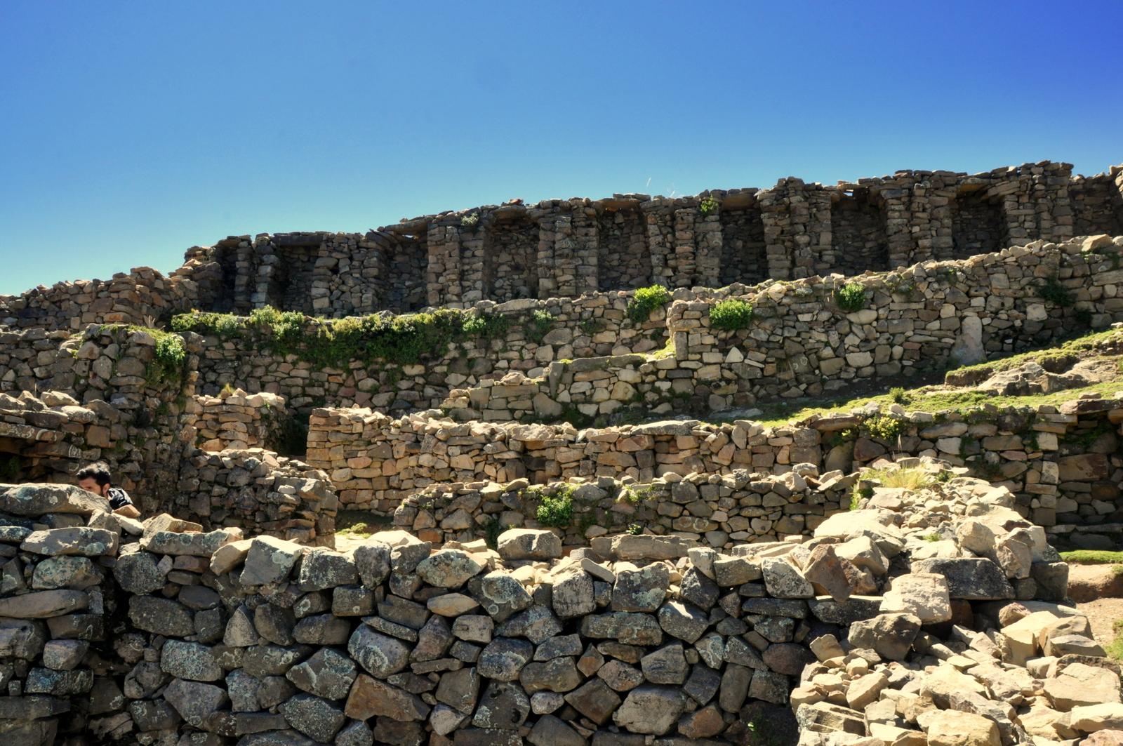Inka Ruinenstätte auf der Isla del sol