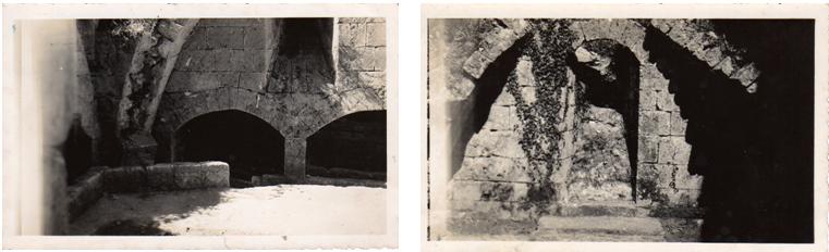 Images des fouilles de la crypte ossuaire en 1923