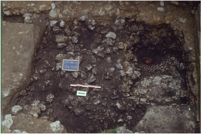 Image des fouilles du cloître en 2003