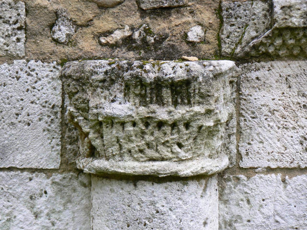 Chapiteau à feuillages galerie Est du cloître XII°S