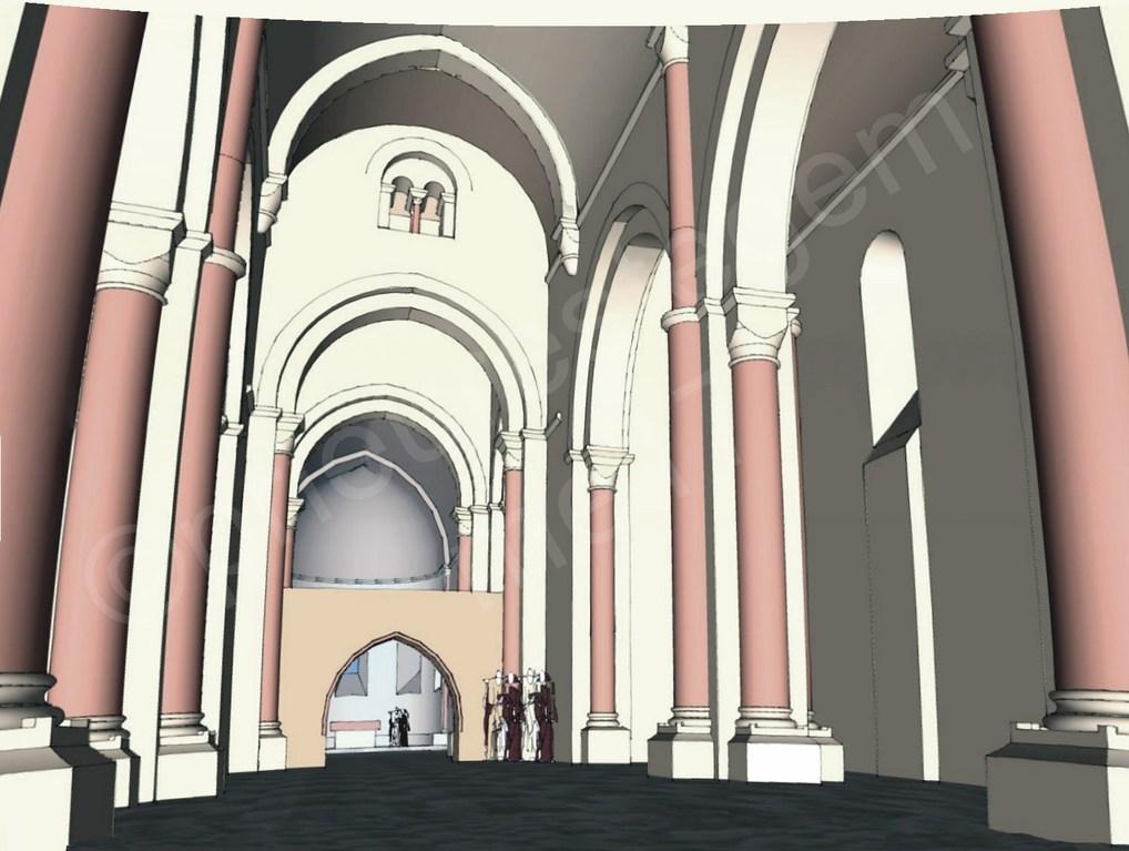 Intérieur de l'église, la nef