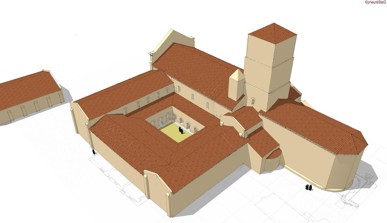 Fin du XIIe siècle (vue du S-E)
