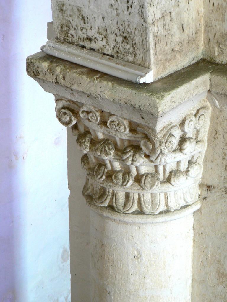Chapiteau à feuillages de la nef milieu XII°S