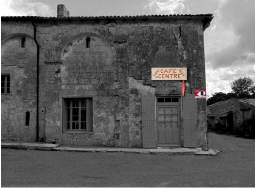 Restitution de la façade du café du centre A Gh. VLAD