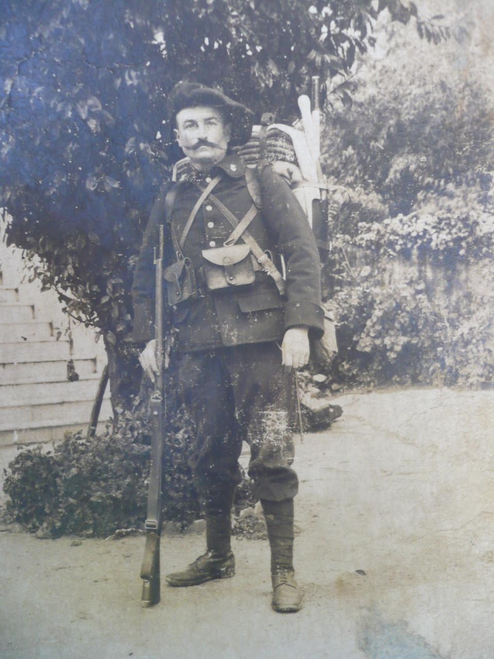Emile GARNIER habitant à la Grosse-Pierre a survécu au conflit