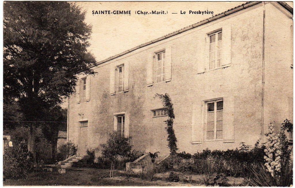 Le presbytère, l'actuelle mairie, vers 1950