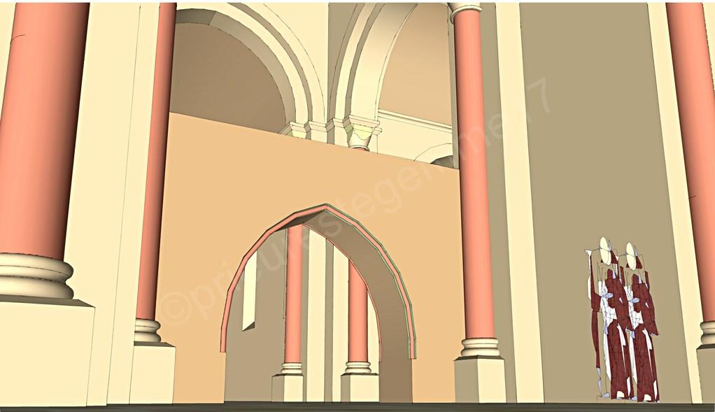 Intérieur de l'église, le jubé