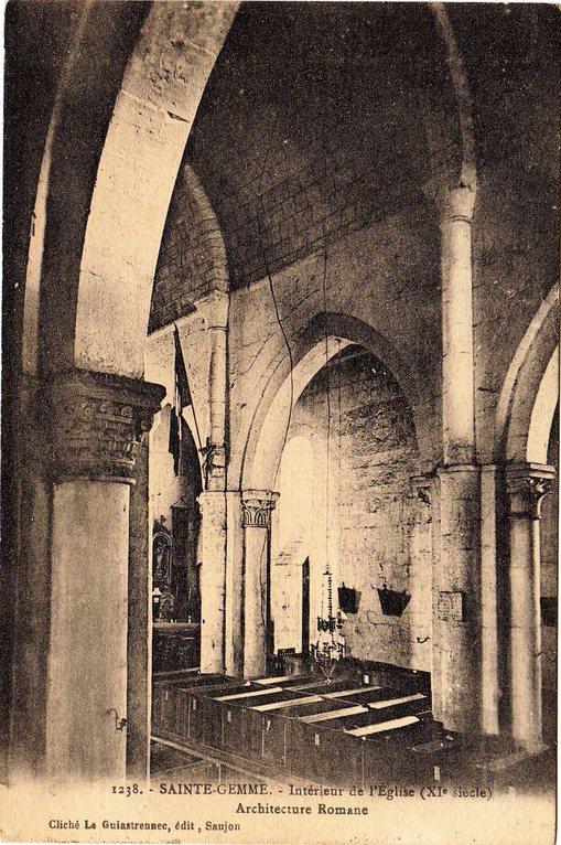 Intérieur de l'église vers 1917