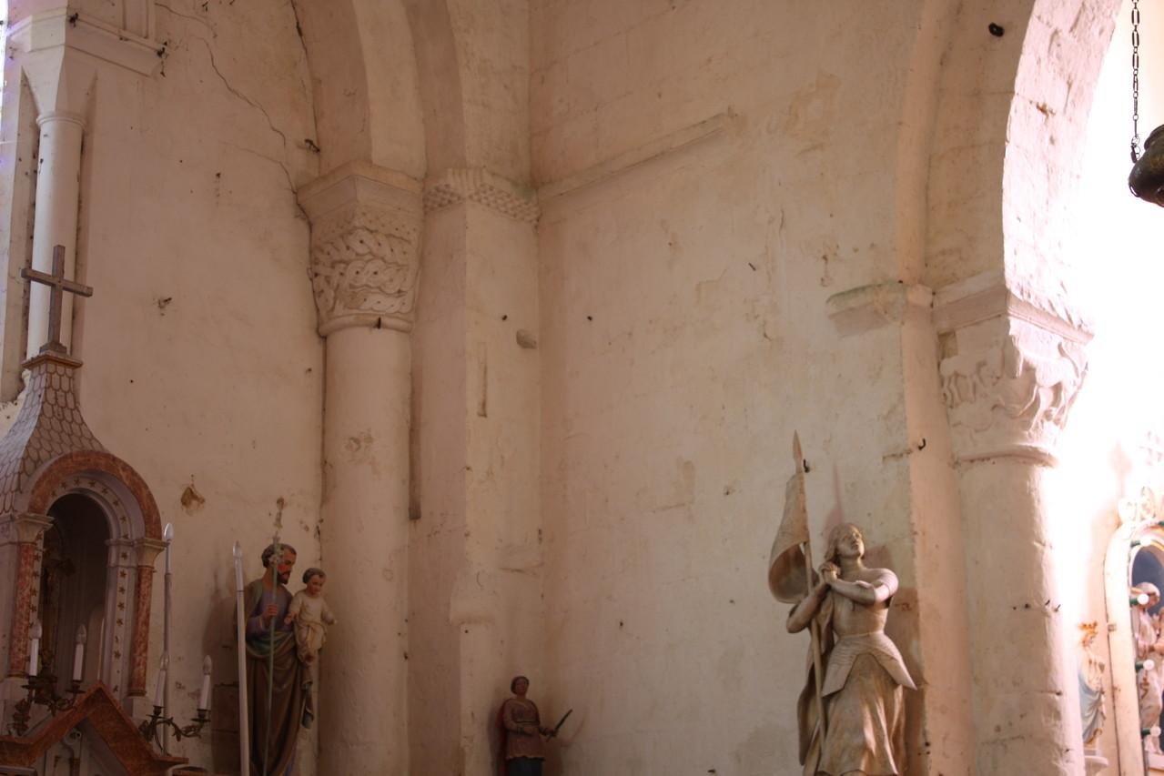vue de la croisée depuis l'intérieur de l'église
