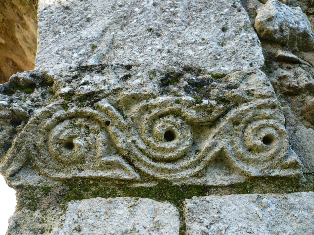 Décor galerie Est du cloître XII°S