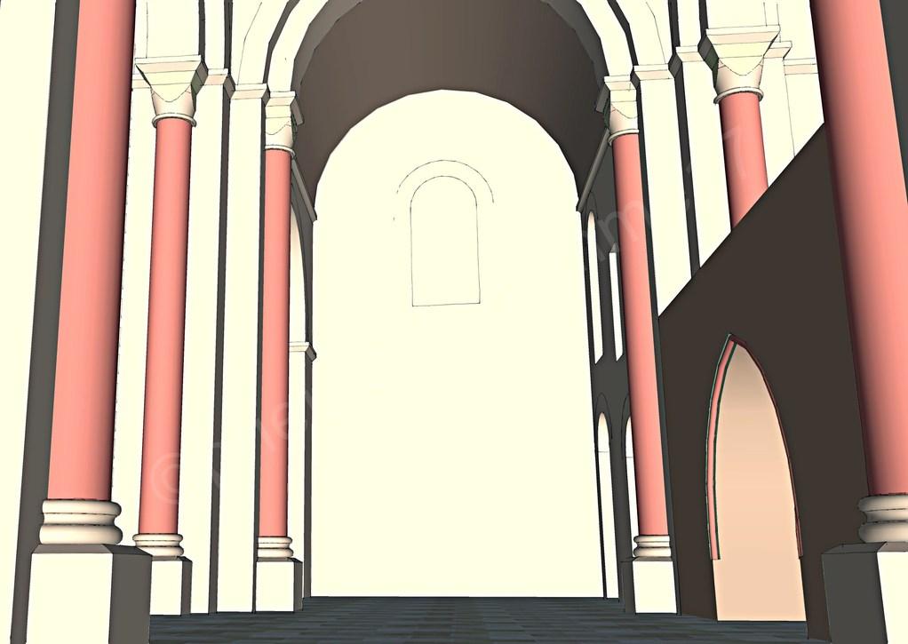 Intérieur de l'église, le transept