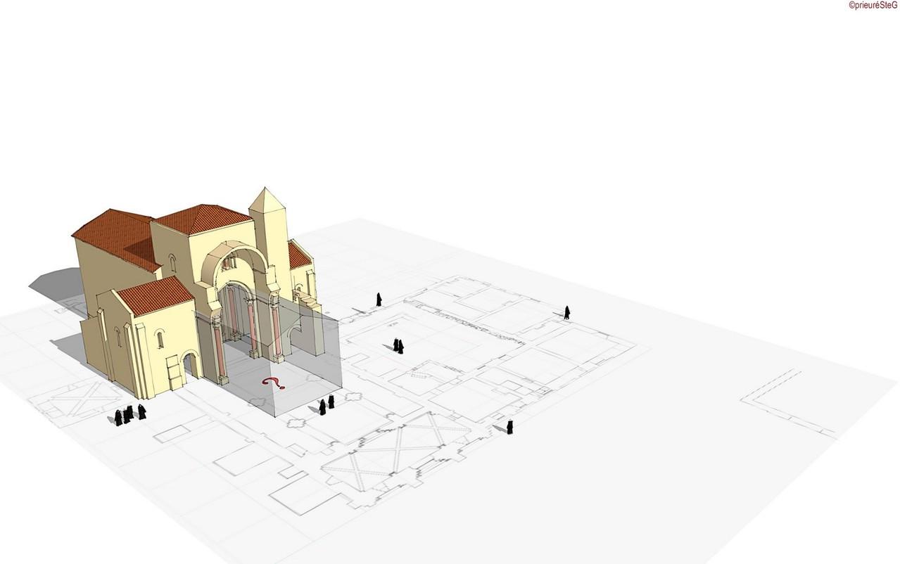 Début du XIIe siècle : un nouveau transept et un chœur sont édifiés