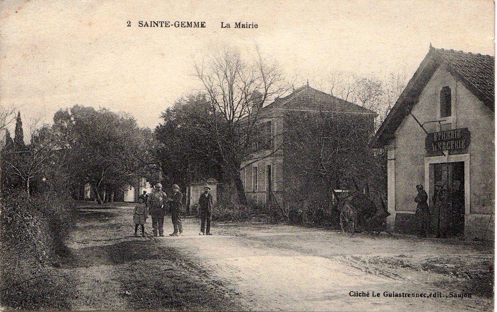 L'ancienne mairie, l'école, vers 1917