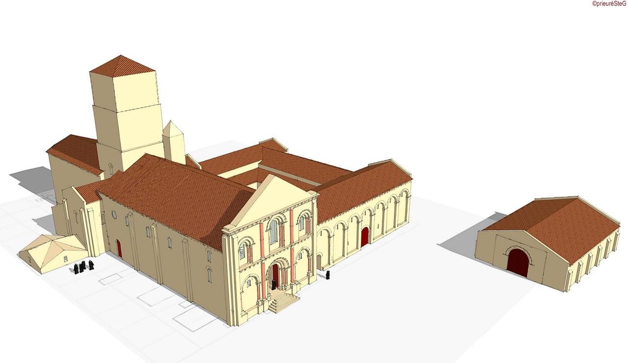 Fin du XIIe siècle (vue du N-O)