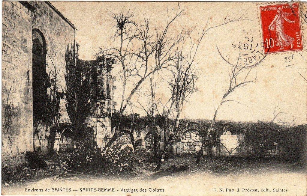 Le cloître vers 1900