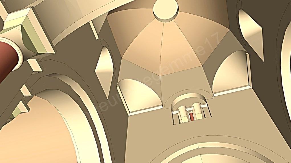 Intérieur de l'église, la croisée du transept