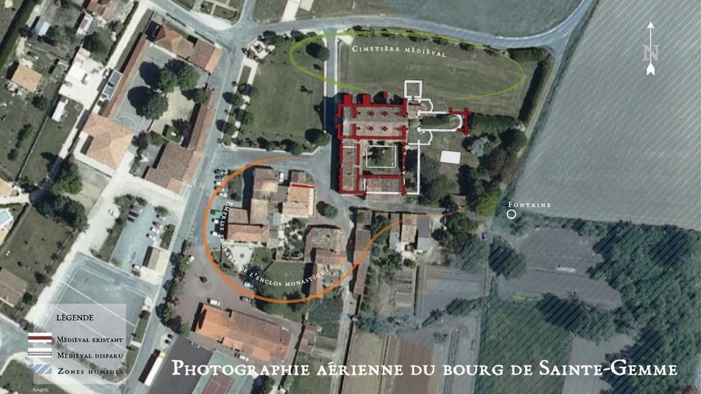 Le site du prieuré de Sainte-Gemme