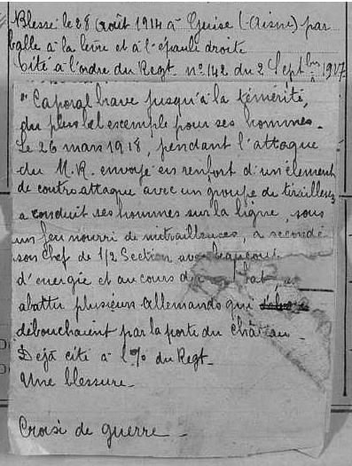 René PAUMIER MPLF le 13 avril 1918