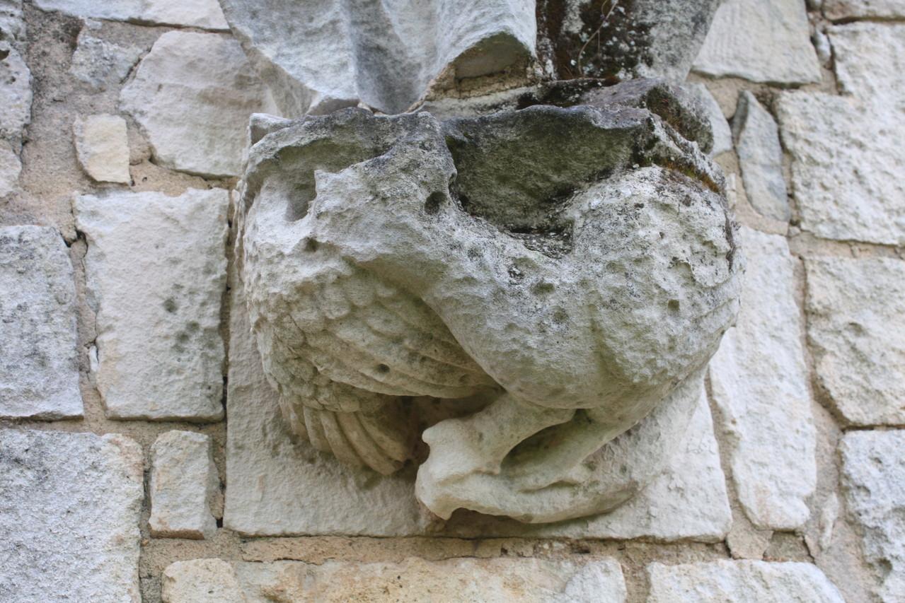 Cul de lampe représentant un basilic XIII°S