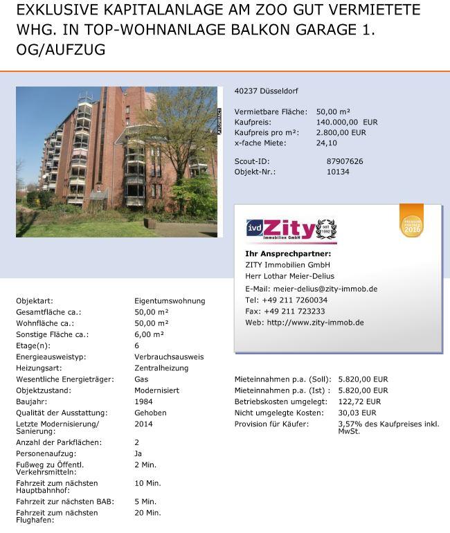 Referenzobjekte Zity Immobiliens Webseite