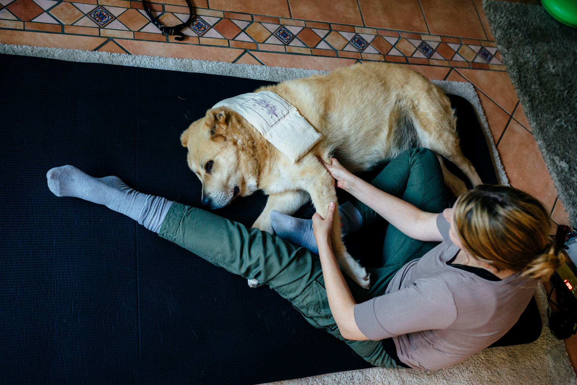 Wärmetherapie und Massage