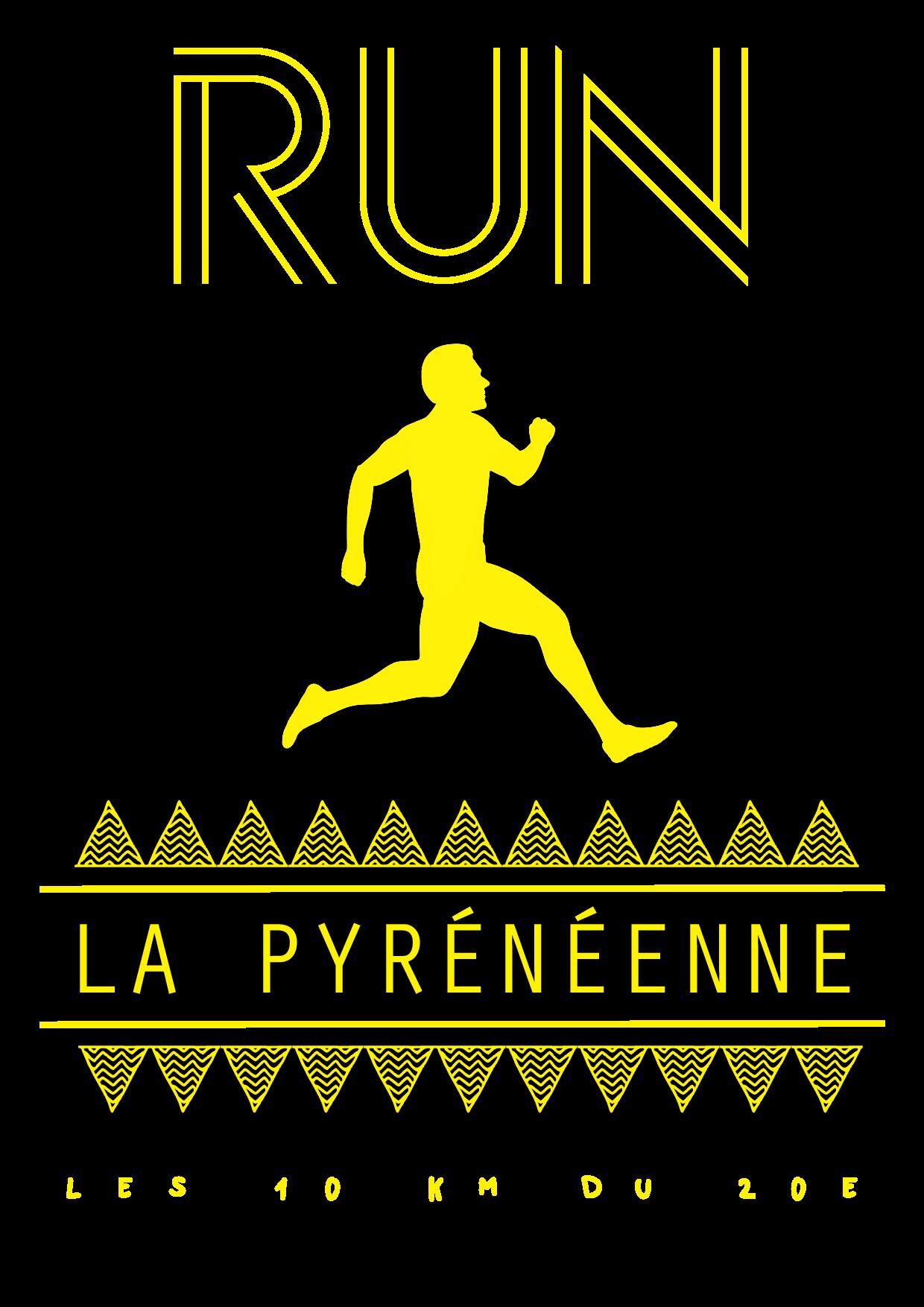 """Visuel pour le tee shirt de la course """"La Pyrénéenne"""""""