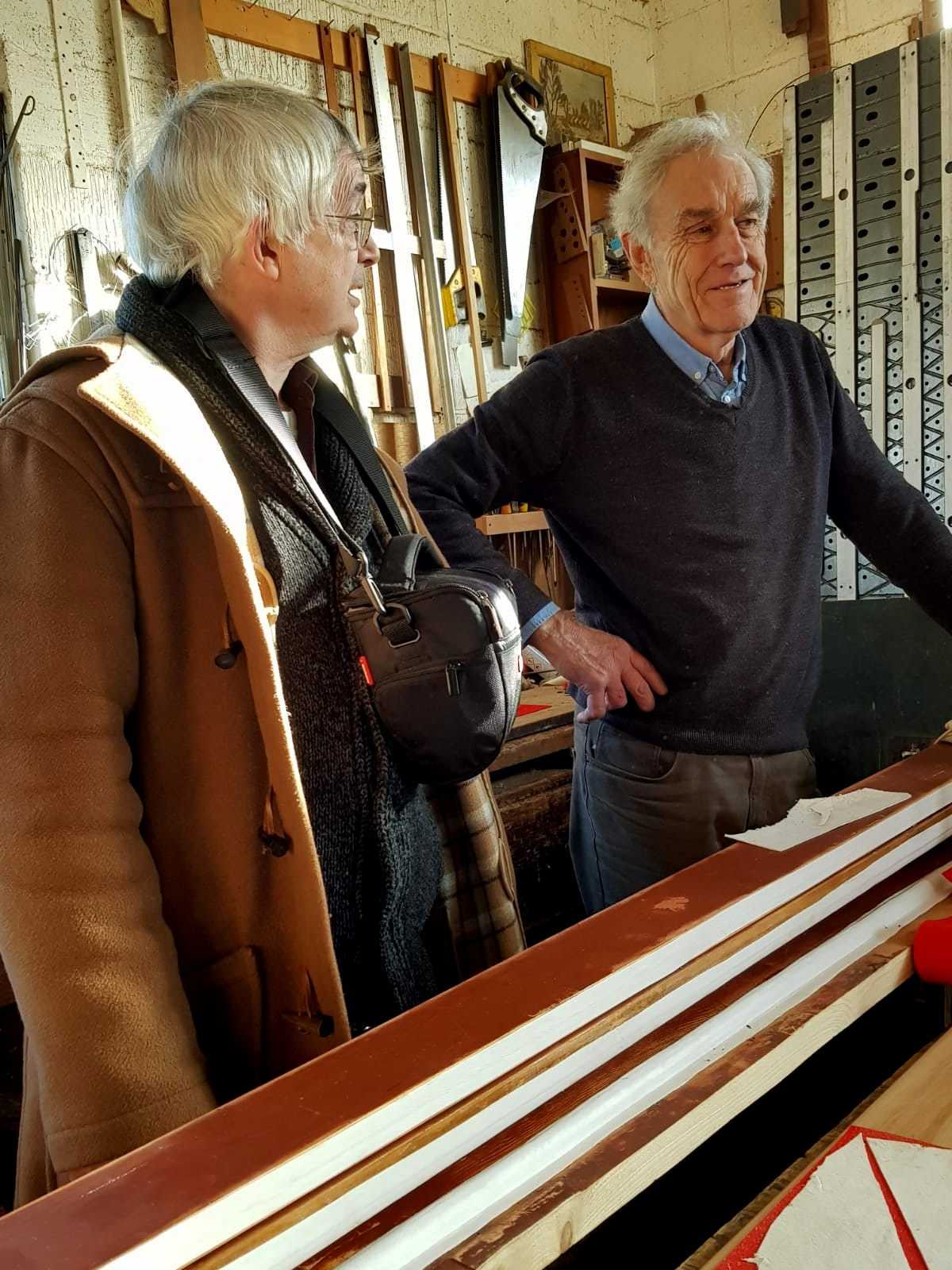 Our church organist with Rodney Briscoe who has worked at Boggis since 1961.