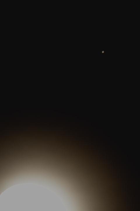 2019年8月の月と土星