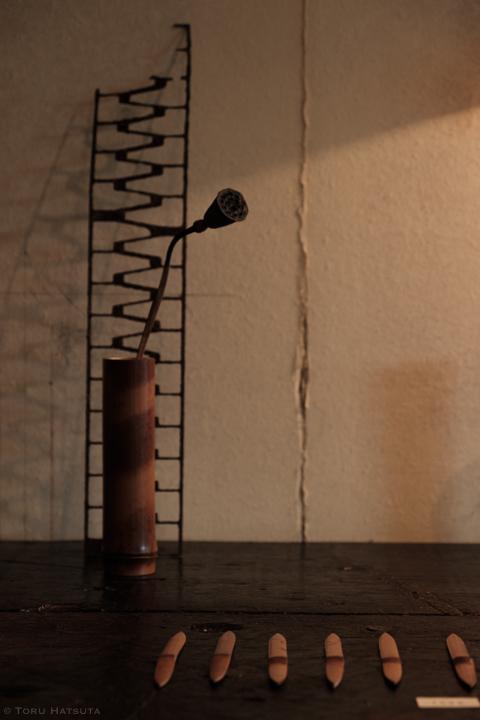 煤竹を用いた花入、一輪挿し、ドライフラワーベースなど