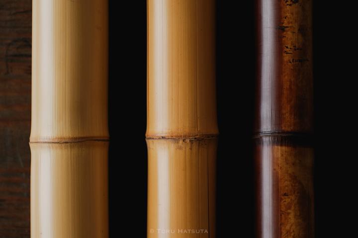五年、十五年、百五十年。煤竹と白竹、竹の経年変化を愛でる