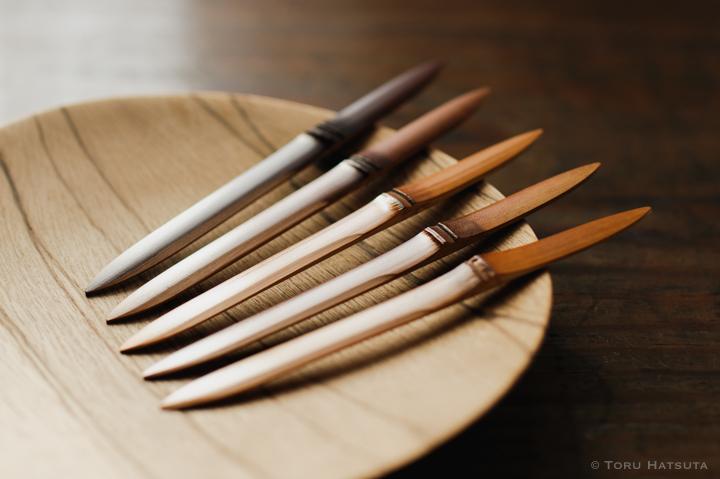 煤竹菓子切り「ささのは」の削り初め