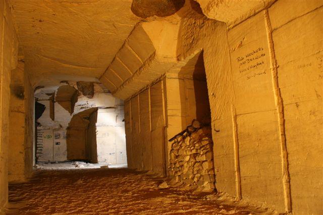 Carrière souterraine dans la région de Maastricht (Pays-Bas) (C) L. Stevens