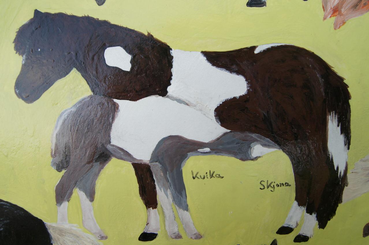 Skjona mit Kvika als Fohlen