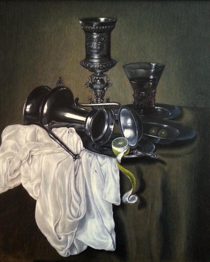 Kleurpotloodtekening ((Heda) 50 x 60 cm (2013) (Verkocht)