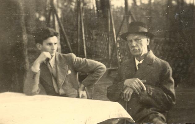 Kurt Schäffer mit seinem Lehrer Prof. Zitzmann