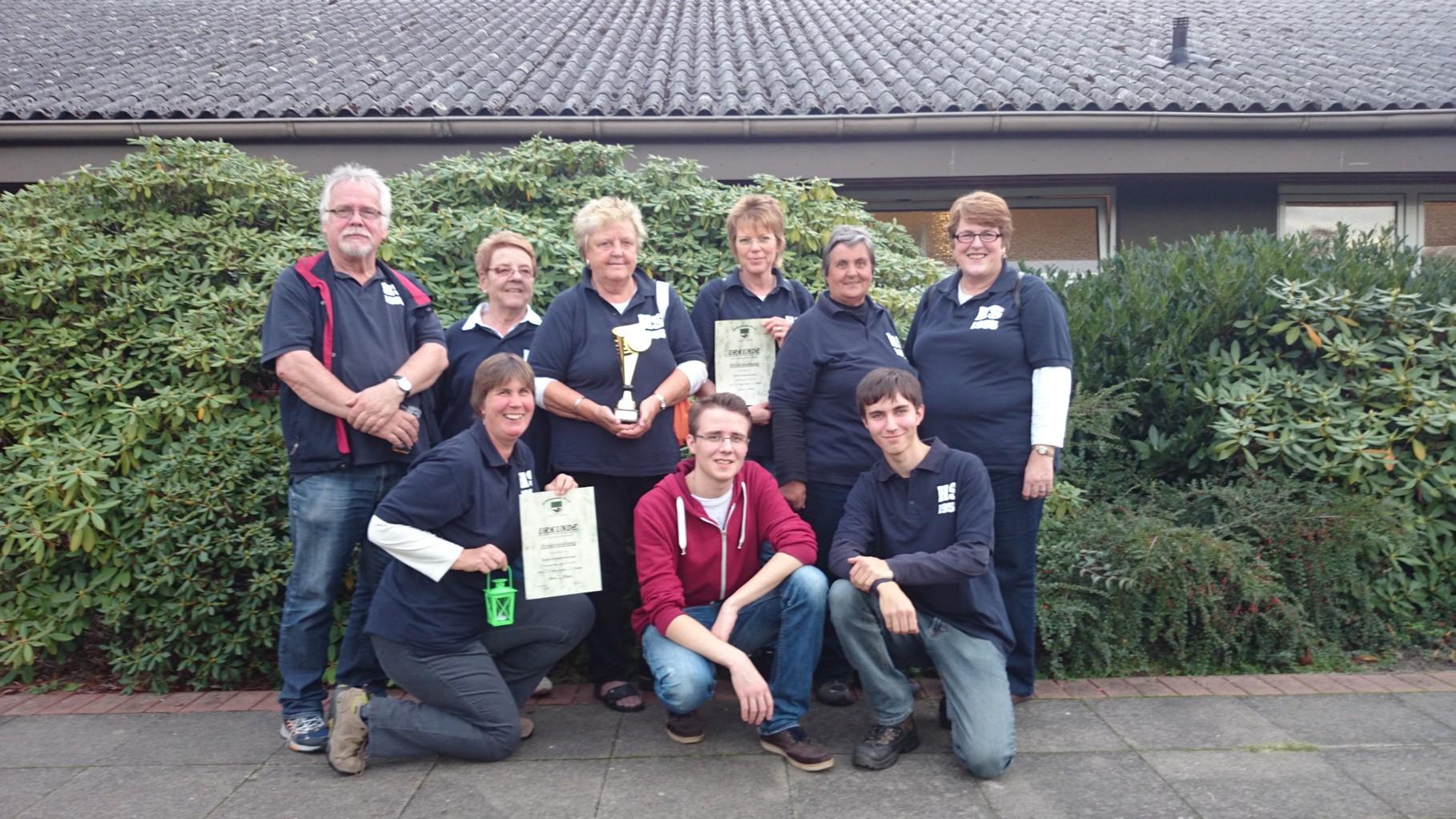 Die Mannschaft vom 29.10.2014 in Königsmoor