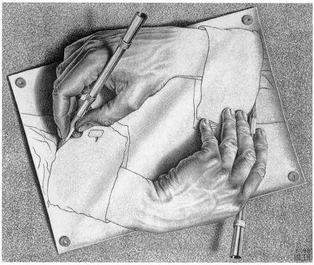 Мориц Эшер: «Рисующие руки»