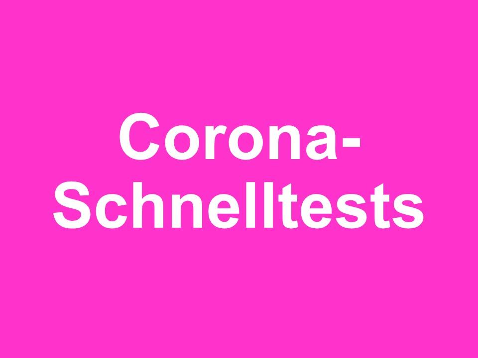 Möglichkeit zum Corona-Test kurz vor Schulbeginn