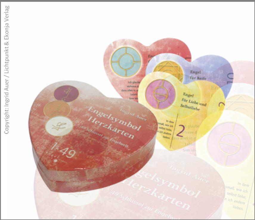 Engel Karten 1-49 Herzform