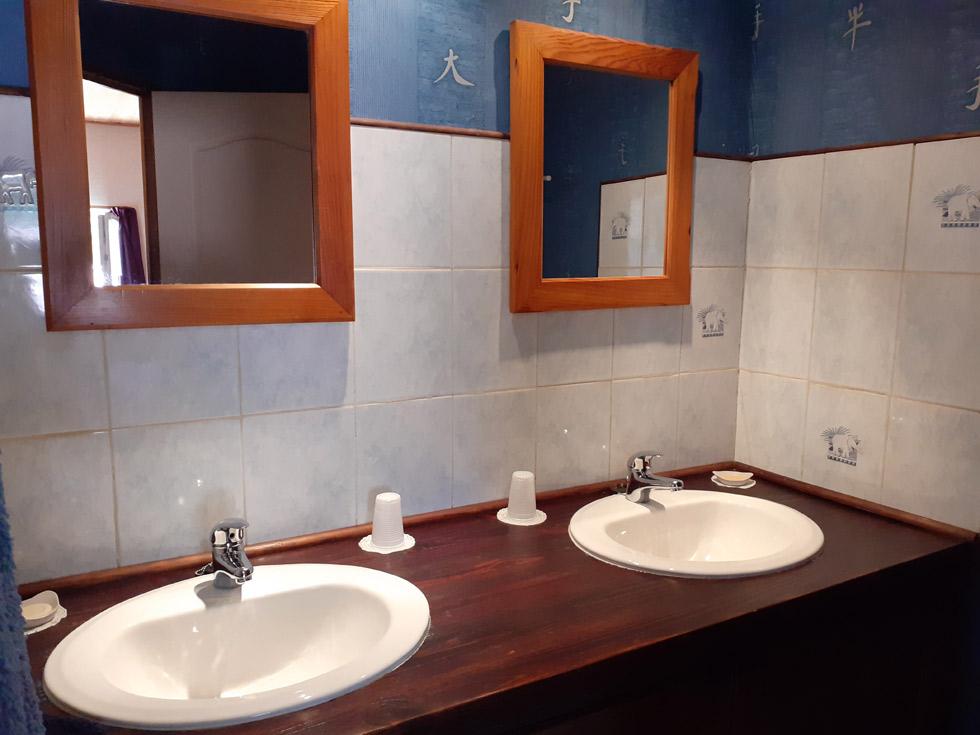 Chambre d'Hôtes des Lisières : la salle d'eau