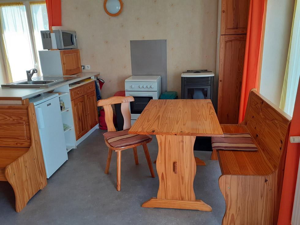 Chambre d'Hôtes des Lisières : l'espace cuisine