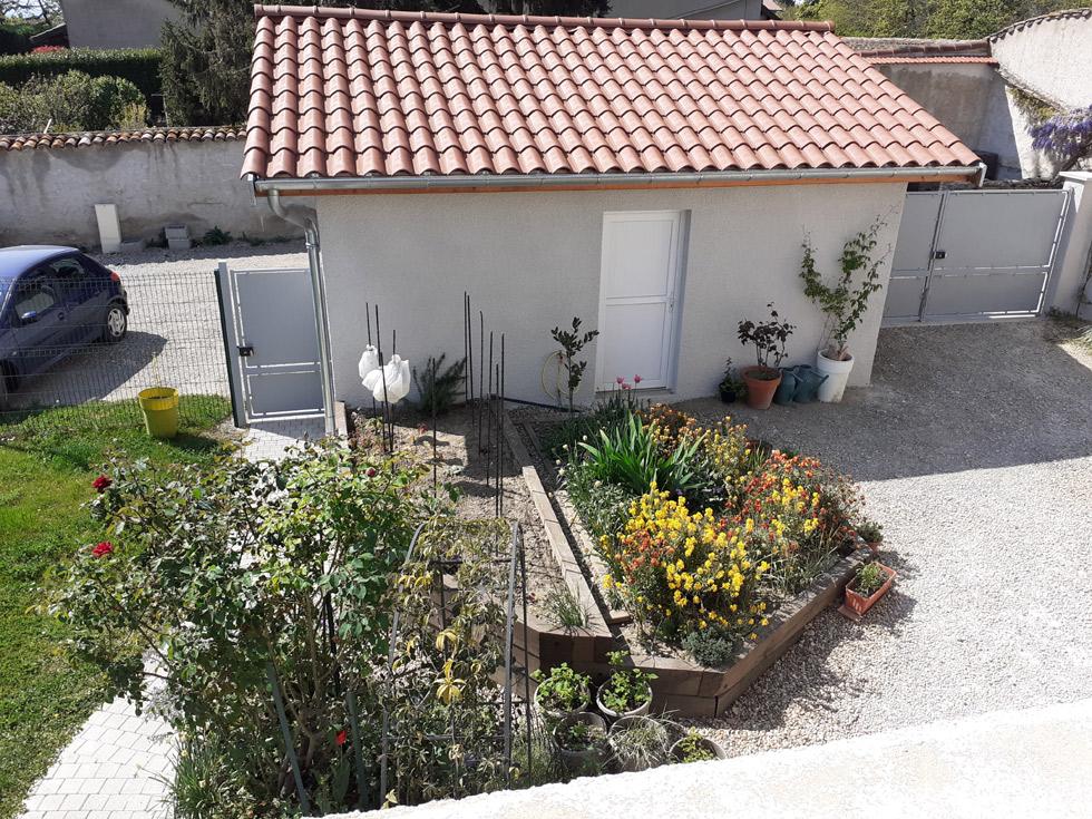 Chambre d'Hôtes des Lisières : la vue sur le jardin