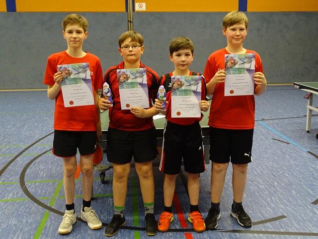 Sieger Doppel Till Neske, Mike Hauptstein (2.), Torben Bischoff, Bennett Büker (1.)